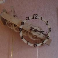 Деревянные часы №1